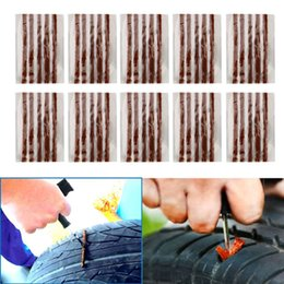Car Tire Repair Canada - 50pcs Automobile Repair Car Tyre Puncture Strips Motorcycle Tire Bike Tubeless Scooter Seal Rubber Tools