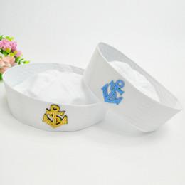 Nuevo algodón azul marino gorra para hombres, mujeres, niños, marinero blanco, sombreros, etapa, rendimiento, uniforme, gorra militar, niños, niñas, boinas, GH-247