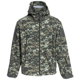 Chinese  Wholesale-ESDY Men Outdoor Hunting Camping Waterproof Coats Soft Shell Hiking Camouflage Jacket With Hood manufacturers