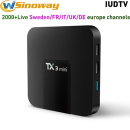 Chinese  IPTV 4K Android TV Box Channels 3in1 TX3 mini With 1 year IUDTV Europe IPTV subscription Support Swedish Spanish Italy UK IP TV manufacturers