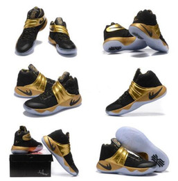 cd37809489e6 Discount basketball shoes kyrie Free Shipping 2016 new Mens Kyrie 2 Navy  Gold Finals PE Basketball. Men Nike Kyrie II Basketball ...