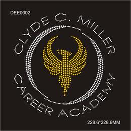 $enCountryForm.capitalKeyWord Australia - DIY Front T-shirt HotFix Clyde c.miller Career Academy rhinestone transfer Fast Shippment designs 30piece