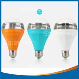$enCountryForm.capitalKeyWord Australia - Wireless Bluetooth AUdio Speakers E27 LED RGB Light Music Bulb Lamp Color Changing via WiFi App Control
