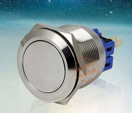 Chinese  GQ25-11ZS Metal Power Push Button Switches Waterproof 304 Stainless Steel 1NO 1NC 25mm Self Locking or Self Reset manufacturers