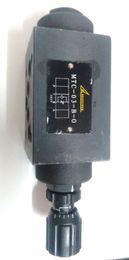 Hydrulic valve MTC-03-B-O throttle valve with flow control on Sale