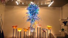 $enCountryForm.capitalKeyWord Canada - Free Shipping Tiffany Style Blown Glass Chandelier Modern Art Blown Glass Flower Shape Pretty Colored Hotel Lobby Decor Chandelier
