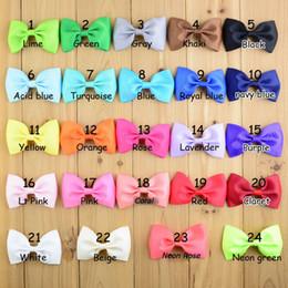 $enCountryForm.capitalKeyWord NZ - 120pcs  Lot Cute Ribbon Bows With Clip 1 .97 *3 .54 Inch Summer Style 24 Colors Girls Diy Hair Accessories Girl Head Flower Pin Fc15