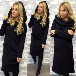 $enCountryForm.capitalKeyWord Canada - New Fashion Straight Solid Full Sleeve Loose Mid-Calf Dress Casual Woman Hooded Autumn Cloth Summer Hot Sale Free Shipping