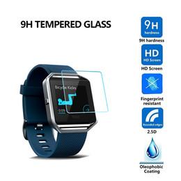 Toptan satış 2.5D 9 H Temperli Cam Flim Ekran Koruyucu Için Fitbit Blaze Dalgalanma Versa Samsung Dişli s2 s3 S4 Dişli 2 R380 300 adet / grup
