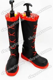 Costumes En Rubis En Gros Pas Cher-Vente en gros-RWBY Red Trailer Ruby Cosplay Bottes Chaussures