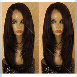 chinese ponytail wigs UK - Lace front wig ponytail Full Lace Human Hair Wigs For Black Women Brazilian Virgin Hair Full Lace Wig With Baby Hair