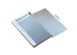 $enCountryForm.capitalKeyWord Australia - Wholesale-9.3x5.7x0.7cm Business ID  Case Metal Fine Box Holder Stainless Steel Pocket