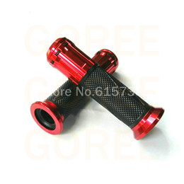 Red Handle Grips Australia - RED new hand grip 7 8'' 22mm Handle bar Grips for Motorcycle Parts ATV Motorbike bycycle motocross free shipping