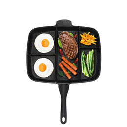 $enCountryForm.capitalKeyWord NZ - Home Fryer Pan Non -Stick 5 In 1 Fry Pan Divided Grill Fry Oven Meal Skillet 15 &Quot ;Black Kitchen Cooking Utensils