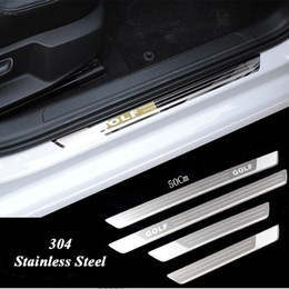Vw Volkswagen Pedals Canada - Ultra-thin Stainless Steel Scuff Plate Door Sill for Vw Golf 7 MK7 Golf 6 MK6 Welcome Pedal Threshold Car Accessories 2011-2015
