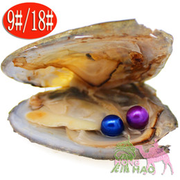 pearl oyster shell wholesale UK - Freshwater pearl pearl oyster desire vacuum packaging, 6-7 mm double circular pearl mussel shells, 28 colors to choose from
