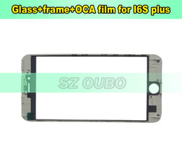 $enCountryForm.capitalKeyWord Canada - Original LCD Screen Glass With Middle Bezel Frame With OCA Film For iPhone 6S Plus LCD Repair Cold Press 50pcs lot