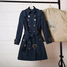 British women s coats online shopping - Trench coat female long style double breasted spring spring new temperament home to build a classic British coat
