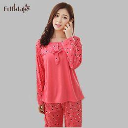 8bab9d0758 Wholesale- Pyjamas For Women Autumn Winter Cotton Pajamas Plus Size Home  Clothes Sleepwear Tracksuit Set Pijamas De Mujer XXXL E0008