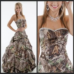 Plus size camo dresses for prom