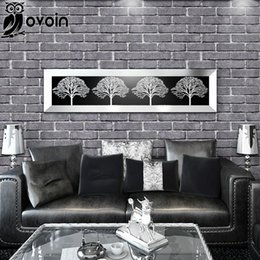 Chinese Style Red Grey Brick Wallpaper Embossed Texture Vinyl Wall For Lodging HouseDinning Room Wallcovering