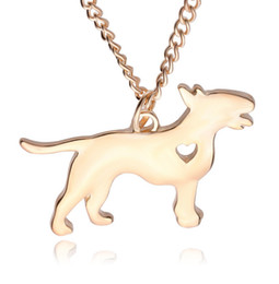 $enCountryForm.capitalKeyWord Australia - New Wholesale Cute Dog Choker Necklace Cartoon Dog with Heart Pendant Necklace for Women Long China Statement Necklace Jewelry