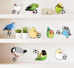 $enCountryForm.capitalKeyWord Canada - Birds play football PVC removable wall stickers sitting room children bedroom background adornment diy waterproof stickers