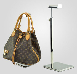 Wholesale stainless steel metal women bag bracket display rack adjustable Tie wig purse handbag display stand holder