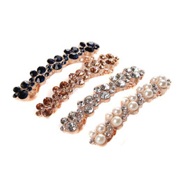 China New Arrival Crystal Rhinestone Pearl Barrettes Hair Clip Clamp Fashion Jewelry Hair Accessories suppliers