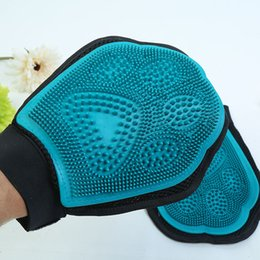 Massage Pet Brush Canada - Pet Bath Massage Brush Rubber Cleaning Massage Gloves for Large Dog Pet Supplies Wholesale