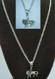 Lion Silver Necklace Canada - Vintage Silver Animal Lion Charm Choker Collar Necklaces&Pendants For Women Gift DIY Jewelry Fashion Accessories Souvenir Hot Sale Q40