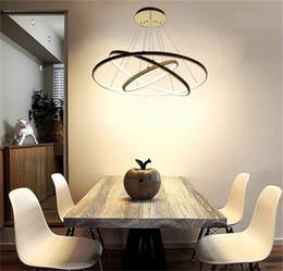 modern ceiling lights for living room 2019 - Modern Circular Ring Pendant Lights 3 2 1 Circle Rings Acrylic Aluminum body LED Lighting Ceiling Lamp Fixtures For Livi