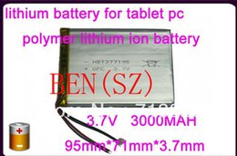 3.7v tablet NZ - 3.7V 3000mah (polymer lithium ion battery) Li-ion battery for tablet pc 7 inch MP3 MP4 [377195]