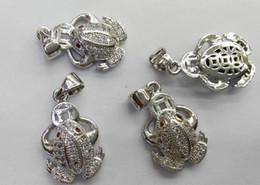 Diamond Spacer Beads Canada - 12pcs 10-20mm CZ Micro Pave Diamond paved spacer beads Jewelry findings Micro Pave Brass Animals charm pendant