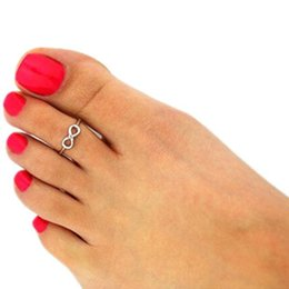 New jewellry online shopping - New Women Toe Rings Vintage Infinity Midi Finger Ring Unique Gold Silve Knuckle Ring Foot Jewelry Beach Retro Stylish Body Jewellry Free DHL