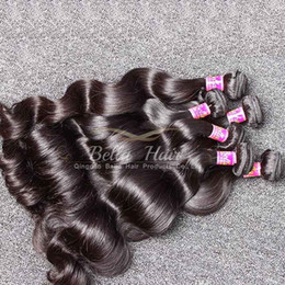 Bundle Hair Weave NZ - Brazilianhair Bundles Virgin Human Hair Weaves Extensions Weft Double Weft Natural Color Body Wave 3pcs Bella Hair