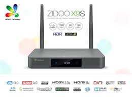 Android Tv Box Hebrew Canada - DHL ZIDOO X9S Android 6.0 TV Box Realtek RTD1295 Quad Core 2G 16G HDMI OUT IN KDI Smart TV Russian Hebrew IPTV Europe Media Player