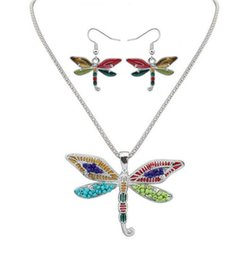 $enCountryForm.capitalKeyWord UK - 50set Fashion Ethnic Jewelry Sets Rainbow butterfly Pendant Necklace Drop Earrings Gold Silver Colorful Drip Resin Charm Gift For Women F413