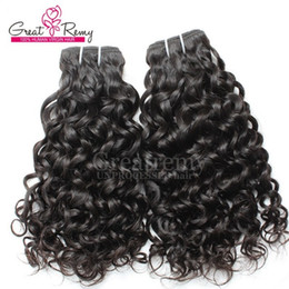 Big Curly Hair Weave Canada - 2pcs lot 7A Human Hair Extensions Brazilian Remy Virgin Hair Weaves Water Wave Big Curly Hair Extension Hair Wefts Dyeable Natural Black