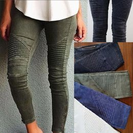 Barato Mulheres S Xl Jeans Colors-Atacado- NOVAS mulheres Popular Cotton Slim Pants Colorful Denim Jeans Pencil Skinny US STORE 4 cores