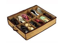 $enCountryForm.capitalKeyWord UK - 20pcs Shoes Foldable Storage Holder Bag Rack Underbed 12 hairs shoes Organizer