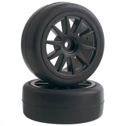 Racing Cars Electric Race UK - 4pcs RC Flat Racing Tires Tyre Wheel Rim Fit HSP HPI 1:10 On-Road Car 910-6018