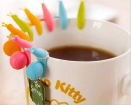 $enCountryForm.capitalKeyWord Canada - Fashion candy Color Cute Snail Shape Silicone Tea Bag Holder Cup Mug Candy Colors Gift D924