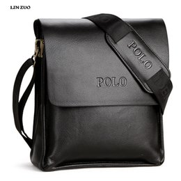 Male Messenger bags online shopping - In Genuine Leather POLO Men Bag Casual Business Brand Mens Messenger Bag Vintage Men s Crossbody Bag bolsas male L60