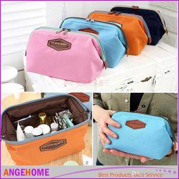 Multi Color Ladies Handbags NZ - Cute Women's Lady Travel Makeup bag Cosmetic Cases Fashion pouch Clutch Handbag Casual Purse 4 color