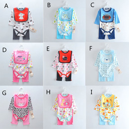 Discount new born baby suits - 9 Pattern Babywear Autumn New Infant Clothes Adorable Cartoon Long Sleeve Jumpsuits Baby Kids Rompers Sets Toddlers New