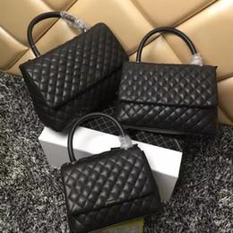 Venta al por mayor de Bolso con solapa de enrejado de diamante bolsa acolchada para mujeres marcas famosas bolsos con asa superior cadena bandolera bandolera bolsos de diseño de lujo bolsos monedero