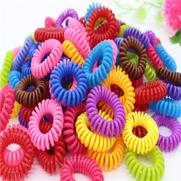 $enCountryForm.capitalKeyWord Canada - Activities gift hair accessories candy Colored Telephone Line Hair rope Elastic Ties Spring Rubber Band Accessory Maker Tools Mix Color