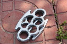 Steel Knuckle Free Shipping Canada - New ARIVAL Silver THICK STEEL BRASS KNUCKLES DUSTER BUCKLE Free Drop shipping
