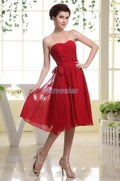 $enCountryForm.capitalKeyWord Canada - free shipping 2018 short flowy dresses chiffon casual dress for fat women real photo vestidos formales red bridesmaid dresses